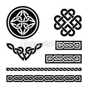 Nós celtas, tranças e padrões - vector — Ilustração de Stock #19183825