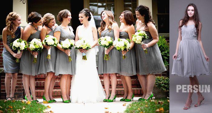 gray-short-Bridesmaid-Dresses-UK-cheap