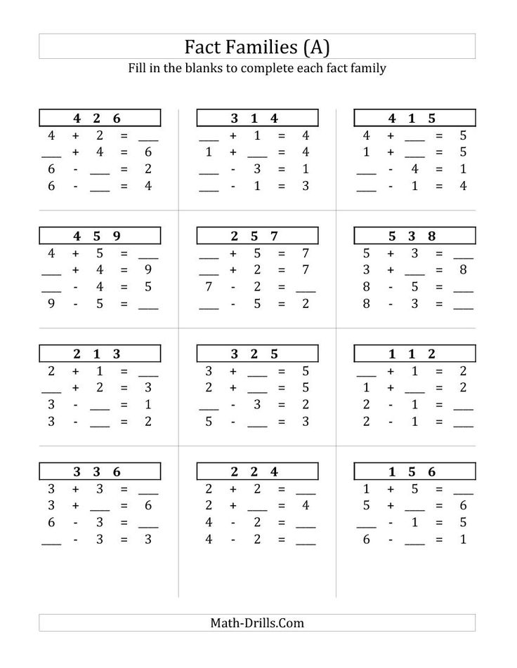 math worksheet : addition and subtraction facts sums to 10  addition and  : Addition And Subtraction Facts To 10 Worksheets