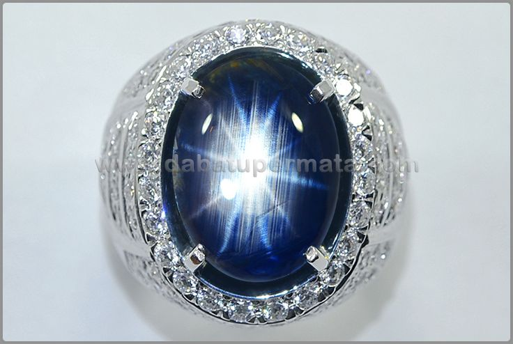 Cincin Batu Permata SAFIR Antik 12 Star, Mogok Burma - SPS 255