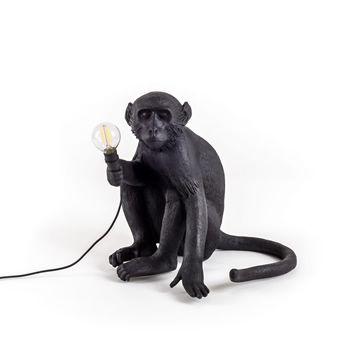 Seletti Monkey Lamp Sitting-Black