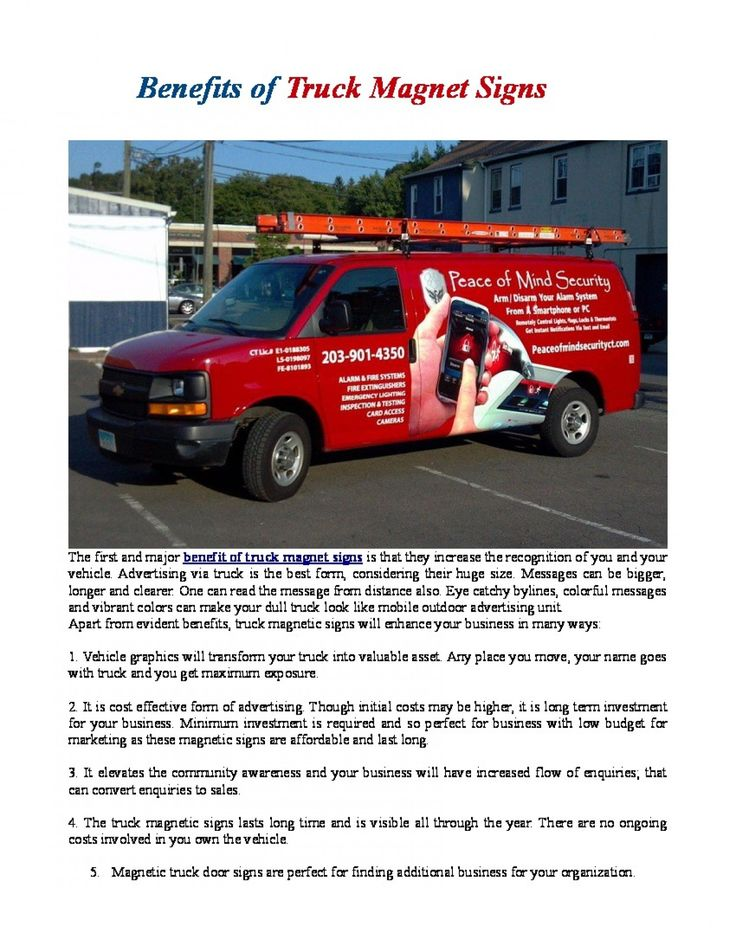 Apart from evident benefits, truck magnetic signs will enhance your business in many ways. Vehicle graphics will transform your truck into valuable asset. Any place you move, your name goes with truck and you get maximum exposure.
