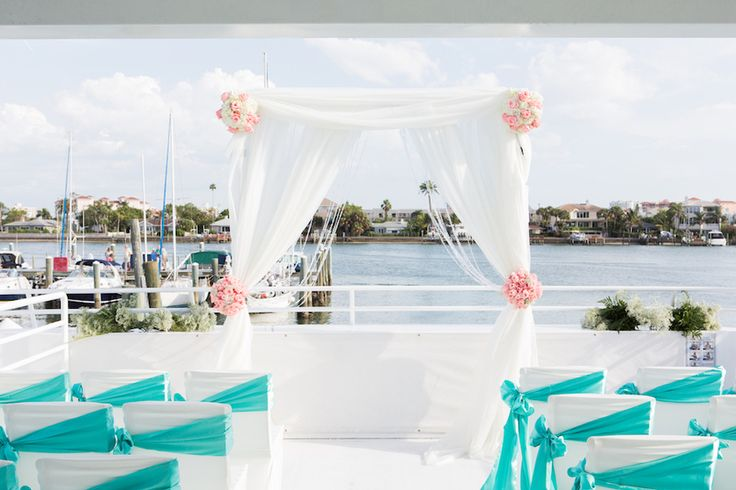 Waterfront Clearwater Florida Wedding Ceremony On The Yacht Sensation