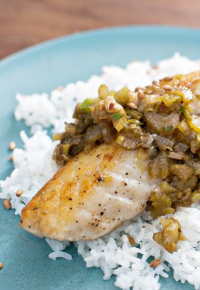 Halibut with brown butter lemon aged fish sauce for Halibut fish recipes