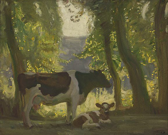 cow and calf  Alfred Munnings