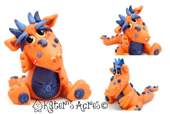 Polymer Clay Dragon 'Juice' Limited Edition by KatersAcres | Available for Adoption in my Etsy store