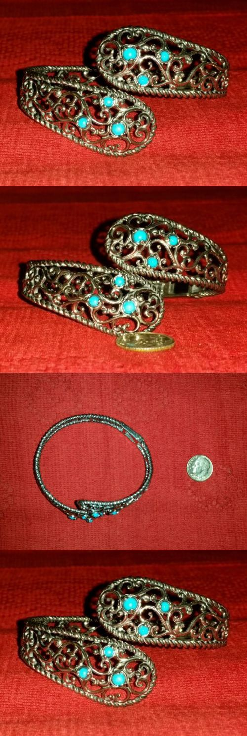 Southwestern 164301: Carolyn Pollack Relios Sleeping Beauty Turquoise Bypass Bracelet Cr 925 Cp Qvc -> BUY IT NOW ONLY: $83.35 on eBay!