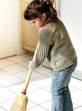 Image result for child cleaning