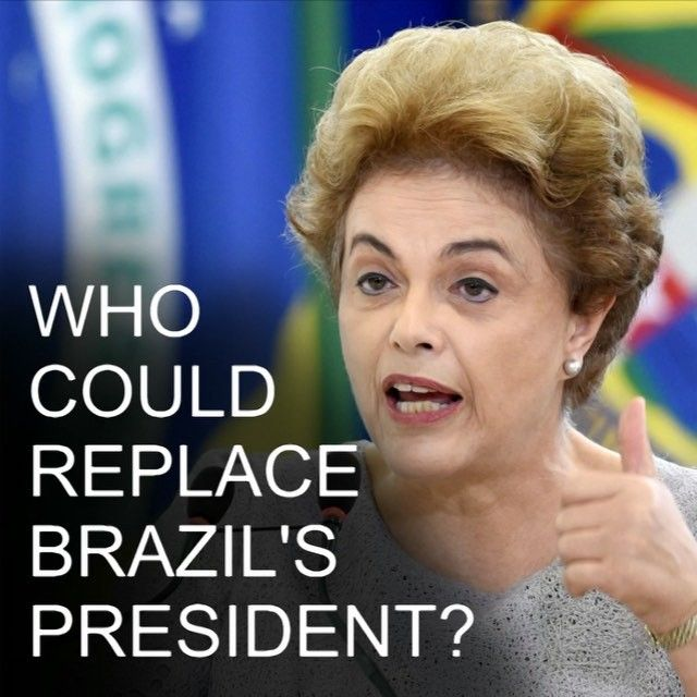 18 APR: As Brazil's parliament votes to bring impeachment proceedings against President Dilma Rousseff we ask who might step into her shoes. bbc.in/impeach #Rousseff #DilmaRousseff  #Dilma #Brazil #Impeachment #Impeach #BBCShorts #BBCNews @BBCNews by bbcnews