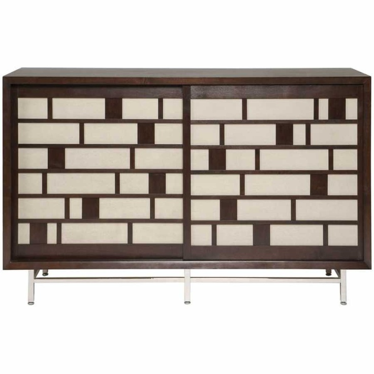 art deco inspired media tv cabinet console vanguard. Black Bedroom Furniture Sets. Home Design Ideas