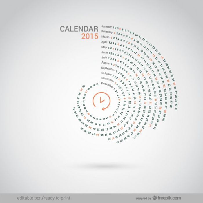 I love the design of this Round 2015 calendar.