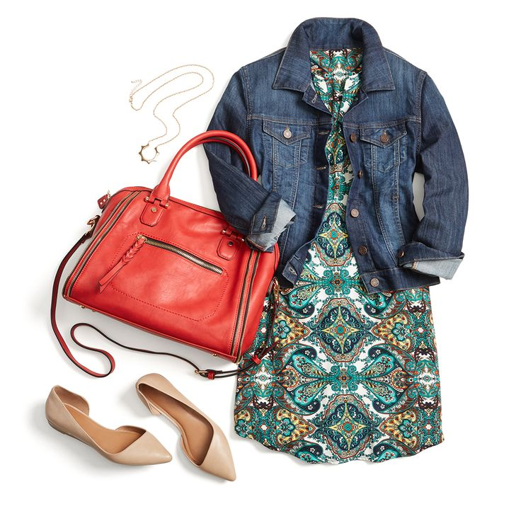 If there's one staple layer every mom needs in her closet, it's a denim jacket. It's versatile & durable enough to stand up to anything life (or kiddos) might throw your way. Wear it over a printed shift dress with neutral flats for an effortless, polished look. Schedule a Fix to receive personalized style tips for your lifestyle!