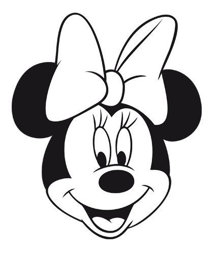 Como dibujar la cara de la Minnie - Imagui