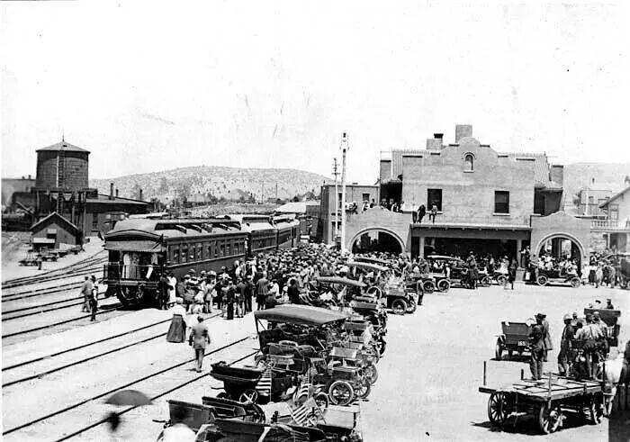 Prescott Train Station Terminal 1800 S Arizona History