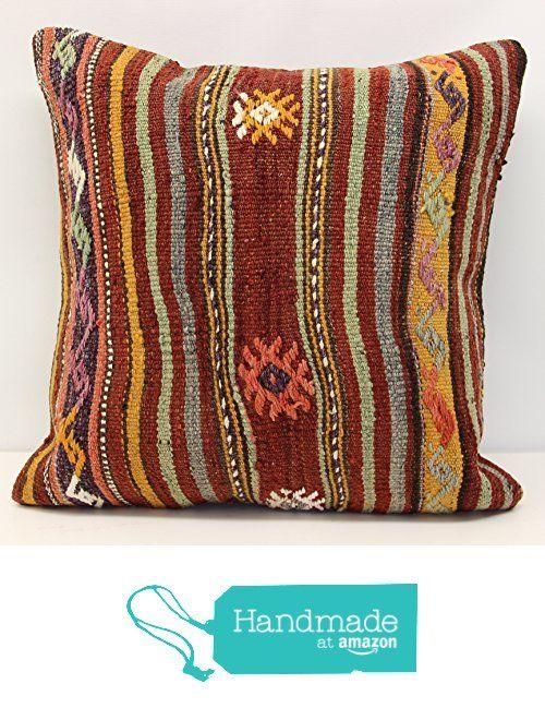 Throw Pillow cover 20x20 inch (50x50 cm) Living Room Kelim pillow cover Home Decor Folk Art Pillow cover Home decor Kilim cushion cover from Kilimwarehouse https://www.amazon.com/dp/B0713P78SB/ref=hnd_sw_r_pi_dp_naD.ybZ6YTWZC #handmadeatamazon