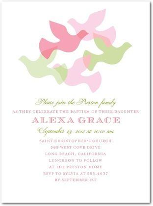 Fine Flock: Cosmopolitan Baptism Invitations on Tiny Prints