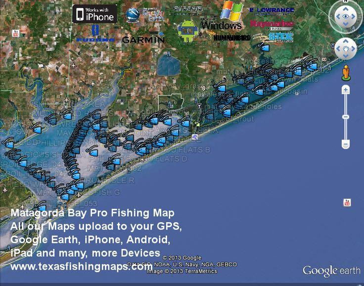 Matagorda Bay Fishing Map - Texas Fishing Maps and Fishing Spots