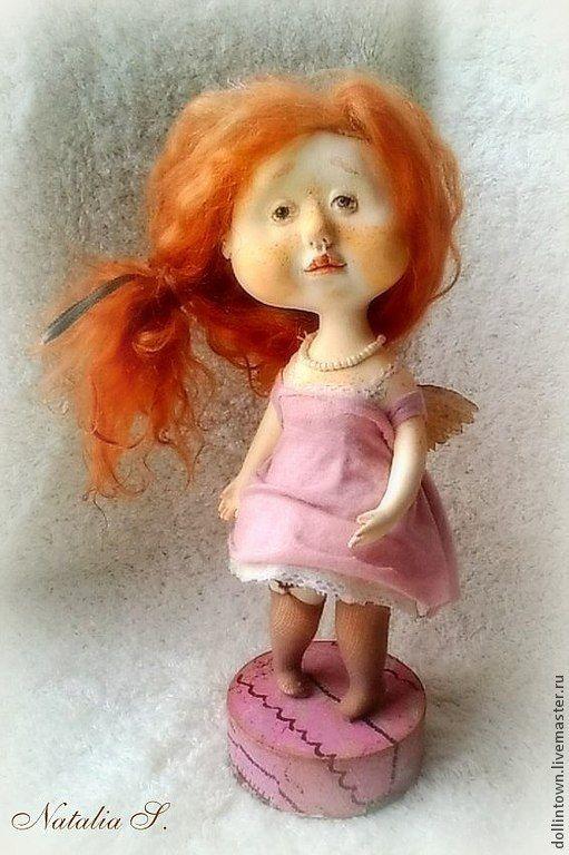 """Купить Авторская кукла """"Рыжая соня"""" - фея, ангел, ангелочек, весна, Рыжая, гапчинская, малышка"""