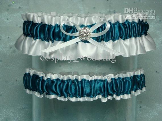 Teal Wedding Garter