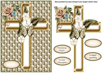 sympathy cross on Craftsuprint - Add To Basket!