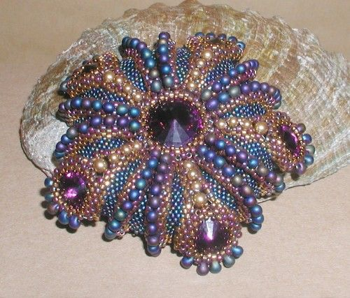 TURORIAL Urchin Wings Mirror PendantBrooch with Gothic Butterfly