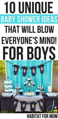 10 Unique Baby Shower Ideas for Boys – #Baby #Boys…