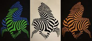 Tsikos – Zebras - (Victor Vasarely)