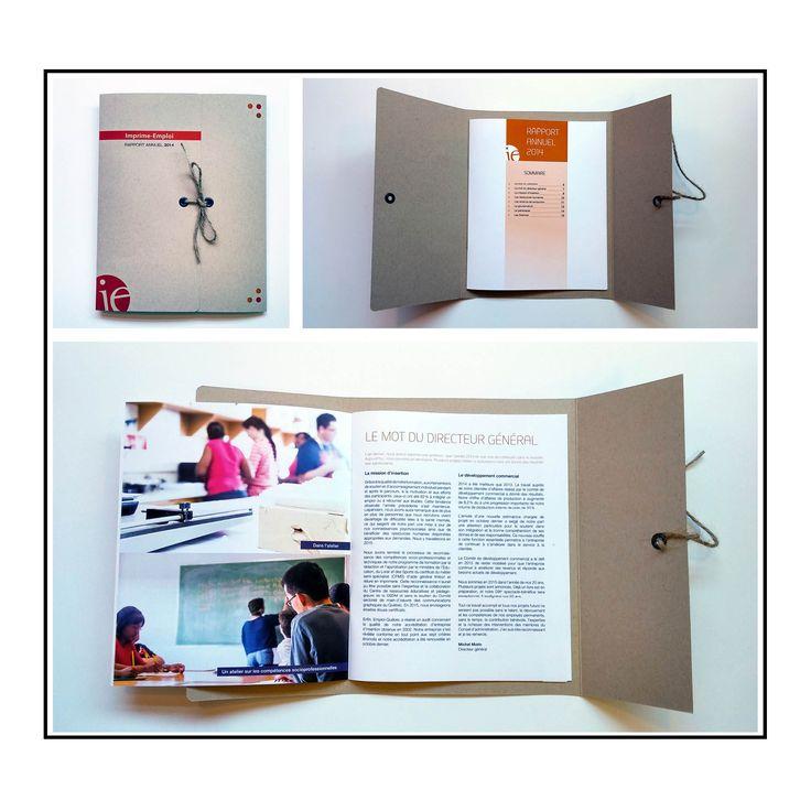 Rapport annuel Imprime-Emploi 2015 | conception graphique, impression, finition