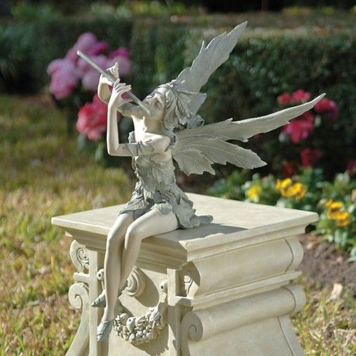 Fairy of the West Wind Sitting Sculpture