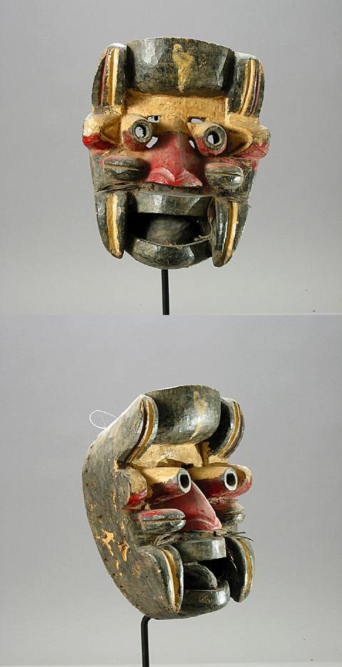 Africa | Mask from the Gere people of western Ivory Coast | ca. 1900 - 1930 | Wood, hair and polychrome paint
