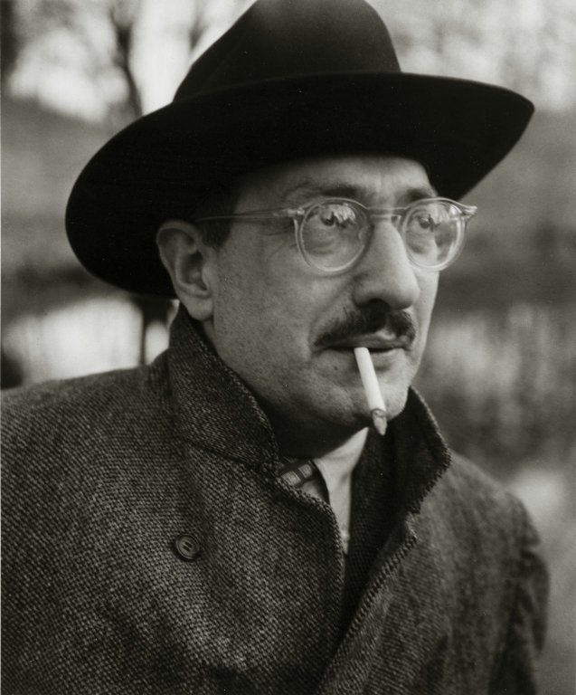 Mark Rothko (1903-1970) - American painter (abstract expressionism) of Russian-Jewish descent. Photo by Consuelo Kanaga