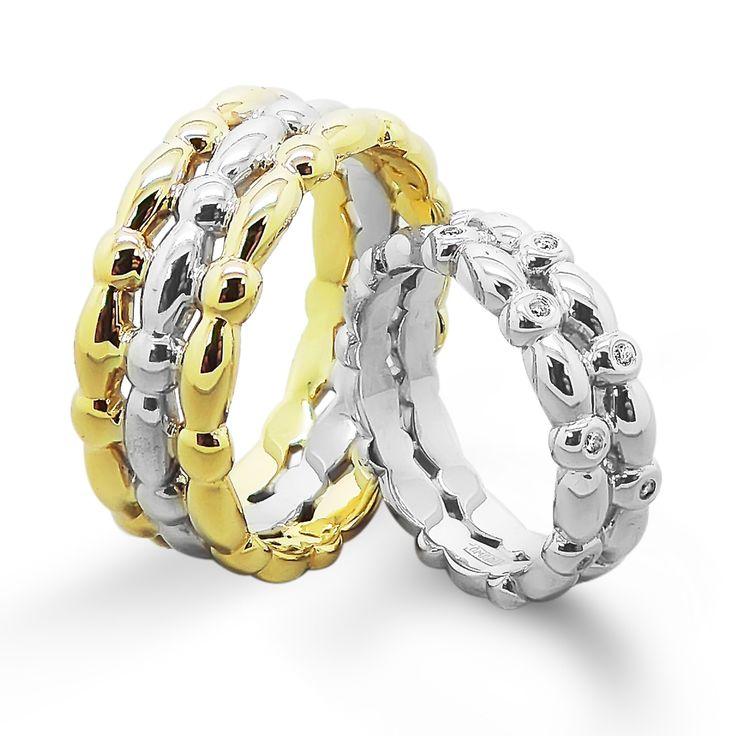46000 руб Недорогие обручальные кольца из комбинированного золота