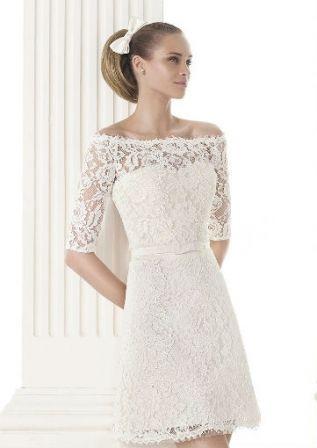 robe de mariage courte automne hiver 2015 pronovias - La Roub De Mariage