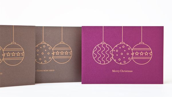 Sparkling christmas mailing for online research company by Anja Leidel, via Behance