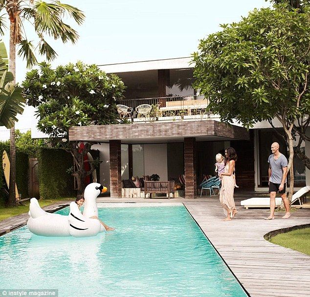 Dream house: Michael and Lindy Klim at their stunning Bali home in the March edition of Australia's InStyle magazine