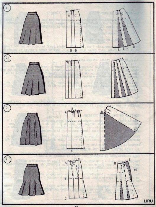 Кройка и шитье. Как научиться кроить и шить.: Моделирование юбок!