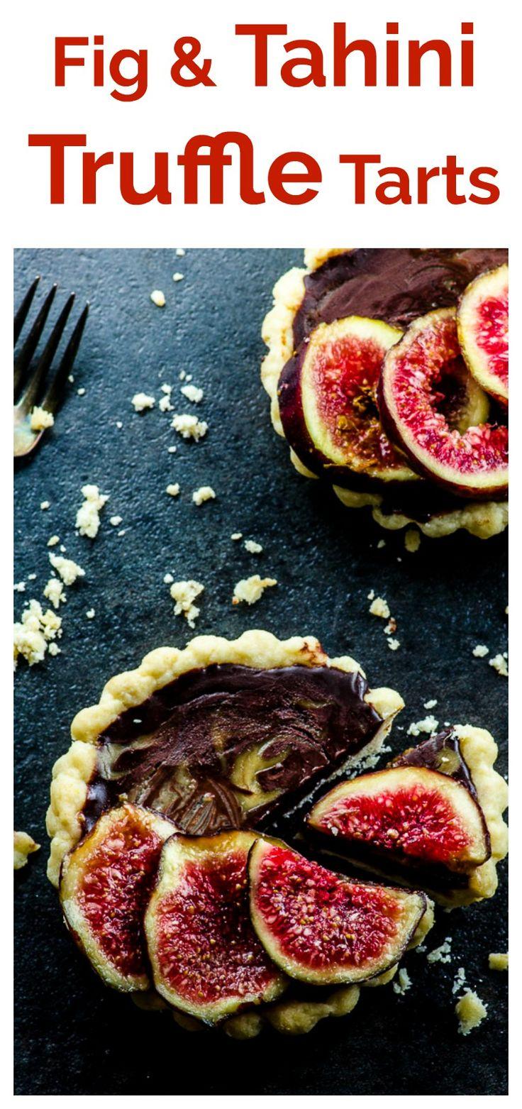 Fig And Tahini Truffle Tarts