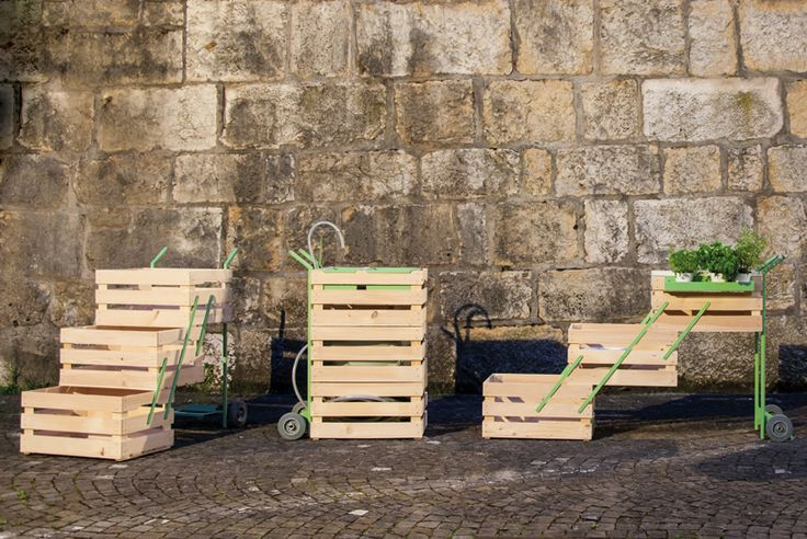 adaptable kisten trolley transforms from produce cart to display stand