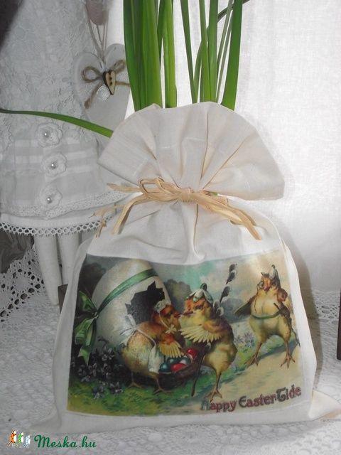 Meska - Húsvéti vászonzsák Kezmuvesajandekok kézművestől