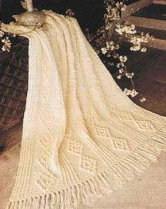 Like Aran crochet? This beautiful cabled crochet throw uses the popcorn stitch to get a classic aran look. | AllFreeCrochetAfghanPatterns.com