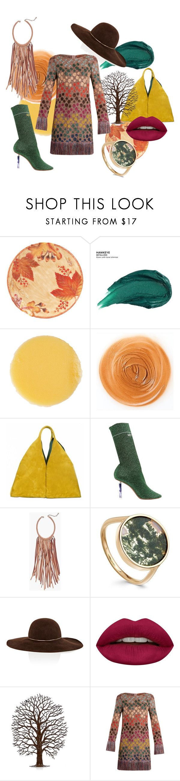 """""""Longing for fall"""" by anitaslagman ❤ liked on Polyvore featuring Fitz & Floyd, Urban Decay, Lipstick Queen, Onesixone, Vetements, Chico's, Eugenia Kim, Huda Beauty, Missoni and missoni"""
