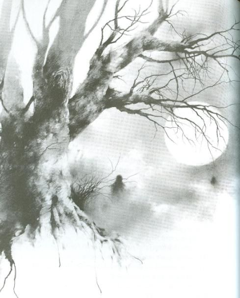 from scary stories to tell in the dark. artwork by the great Stephen Gammell