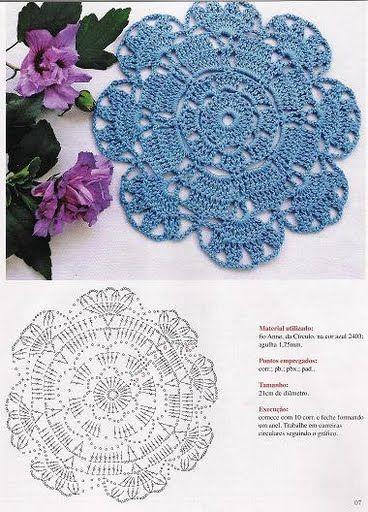 #crochet #pattern #patron #unit #rose