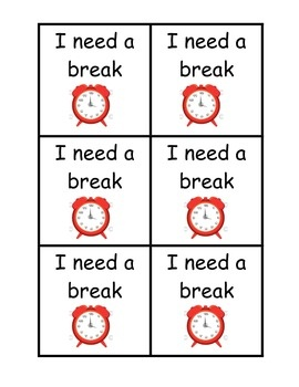 image regarding Break Cards for Students Printable referred to as Split Playing cards SE and RTI Clroom habits, Faculty