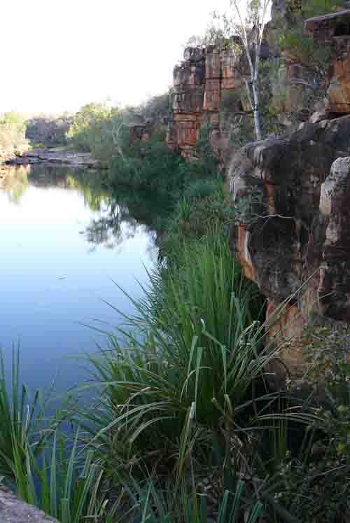 Barnett Gorge (Gibb River Road) - Turn-off is located on the left hand side of the road when heading north. Approximately a 30 minute drive after Mt Barnett Roadhouse when heading north. Turn-off is located approximately 330km from Derby