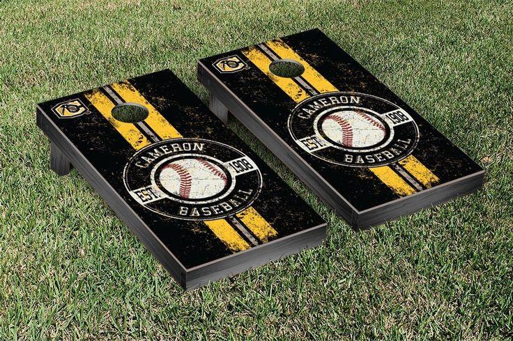 Cameron University Aggies Classic Baseball Logo Cornhole Set