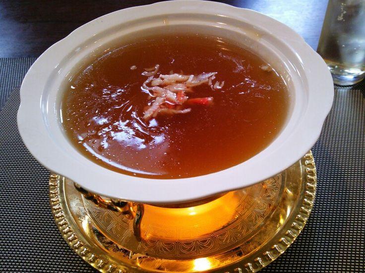 ランチセット 蟹肉入りフカヒレスープ