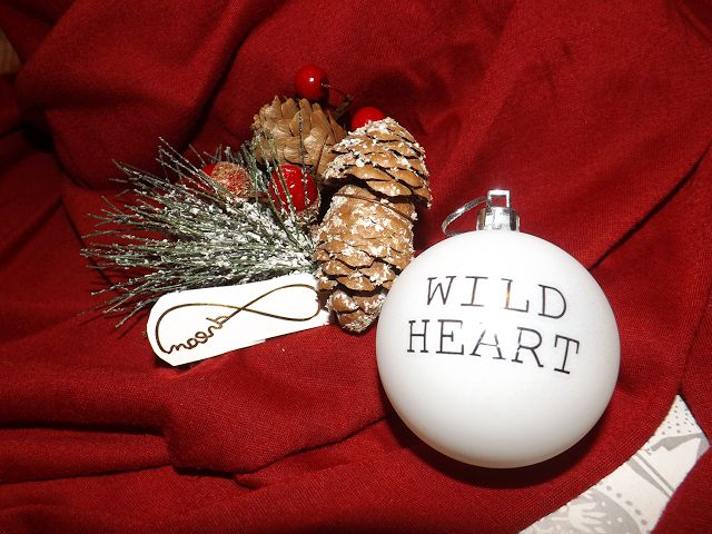 Christmas Baubles using Temporary Tattoos.