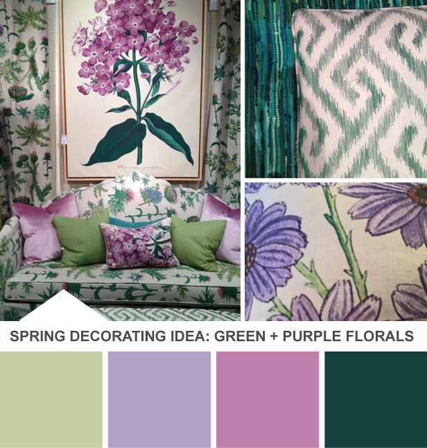 Tuesday Huesday: Try Vintage Florals for Spring (http://blog.hgtv.com/design/2014/04/22/tuesday-huesday-try-vintage-florals-for-spring/?soc=pinterest): Color Design, Spring Color, Color Hue, Living Room Colors, Yellow Living Rooms, Color Combos, Color Combinations, Color Palette