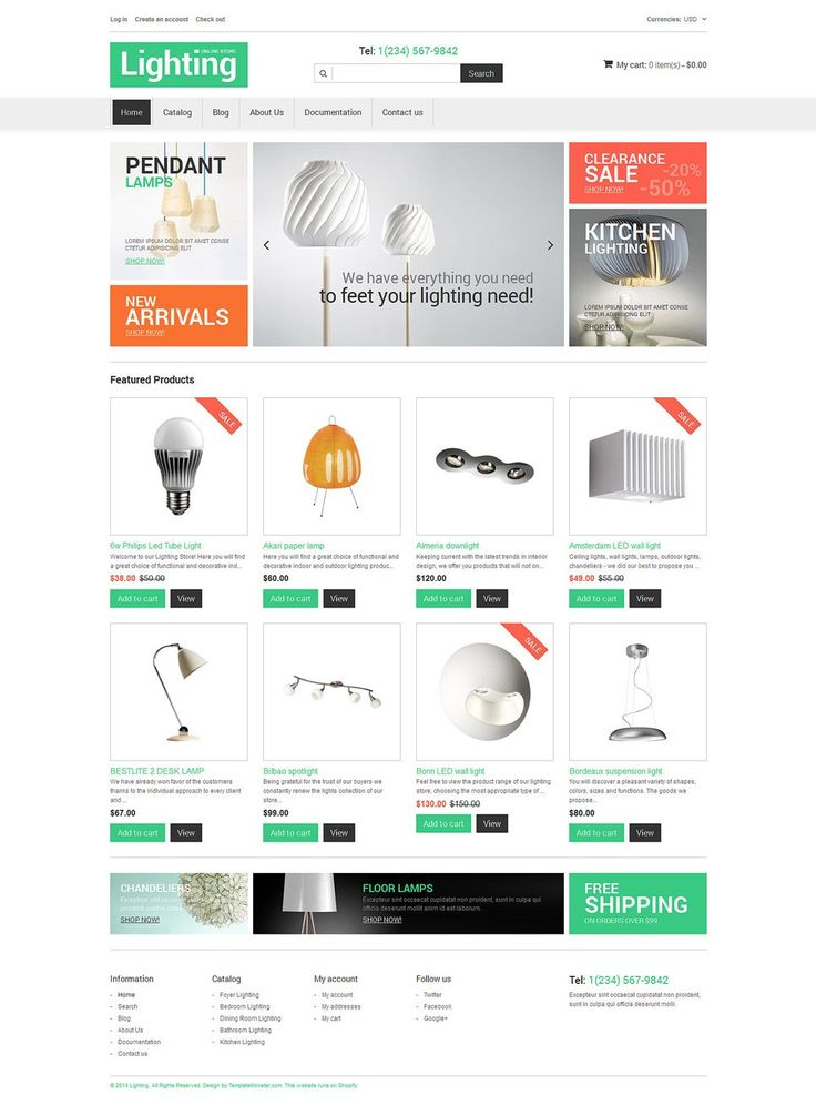 Awesome Home Decoration Plumbing Flooring and Lighting Store Shopify Themes - Interior Design Store (theme) Item Picture